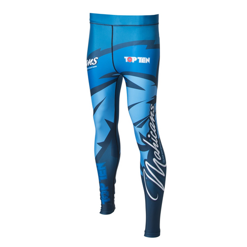 """TOP TEN Compression SPATS """"Mohicans"""" Blue"""
