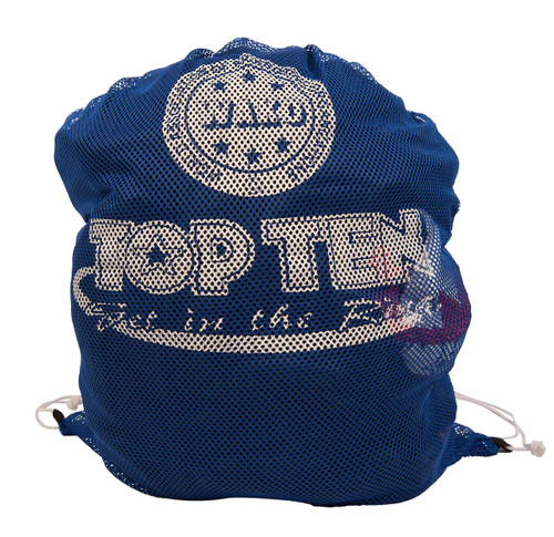 TOP TEN Mesh Bag XL Blue 'W.A.K.O' 70 x 65 (8006-6107)