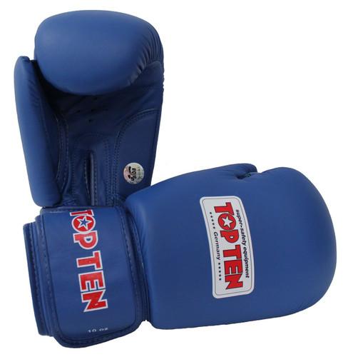 """TOP TEN """"AIBA"""" Boxing Gloves Blue 10/12oz (2010-6)"""