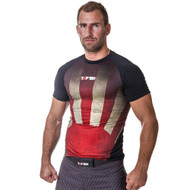 "TOP TEN MMA Short Sleeve Rash Guard ""Sunrise"" (1421-4)"