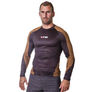 "TOP TEN MMA Rash Guard ""Budo"" Brown (1416-2)"