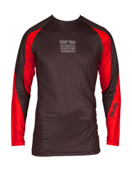 "TOP TEN MMA Rash Guard ""UFA"" Black/Red (14111-97)"