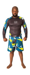 "MMA Rash Guard ""Jungle"" Black/Yellow"