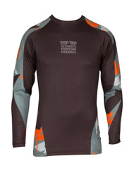 "TOP TEN MMA Rash Guard ""Jungle"" Black/Orange (14121-93)"