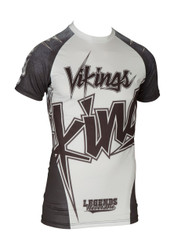 "TOP TEN MMA Short Sleeve Rash Guard ""Vikings"" (14132-1)"