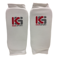 Kicksport Shin Supports Elasticated - White (KSSGE-01)