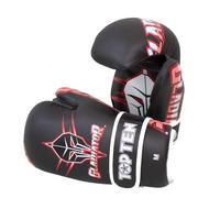 """TOP TEN Pointfighter Gloves """"Gladiator"""" Black/Red (21662-94)"""