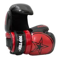 """TOP TEN Pointfighter Gloves """"BLOCK"""" - Black/Red Star"""