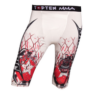 "Compression short TOP TEN ""Samurai"" White"