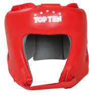 """TOP TEN """"A.I.B.A."""" Boxing Head Guard - with label - Red (4069-4)"""