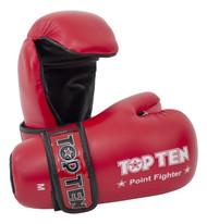 TOP TEN Pointfighter Gloves Red