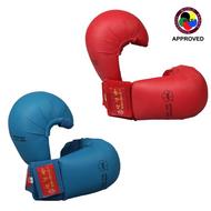 "HAYASHI Karate Gloves TSUKI Without Thumb ""WKF appr."" Blue/Red (237-6)"