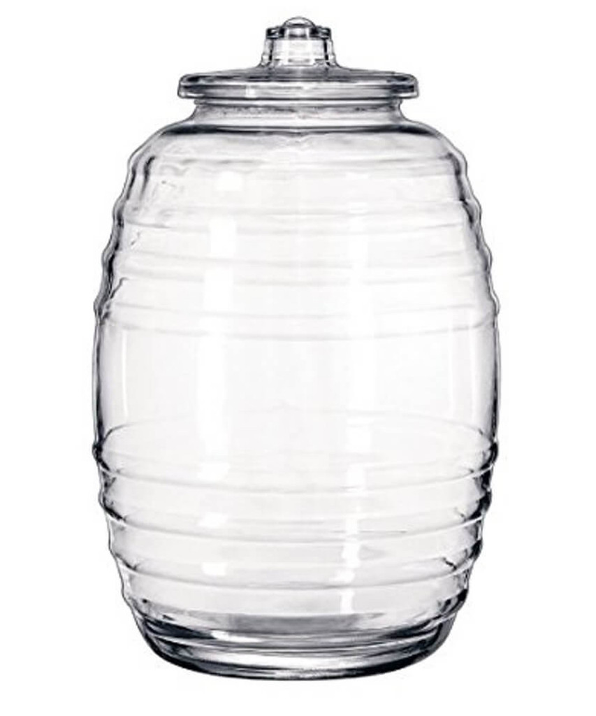 large glass brewing jar 10 liter 2 12 gal happy herbalist - Large Glass Jars With Lids