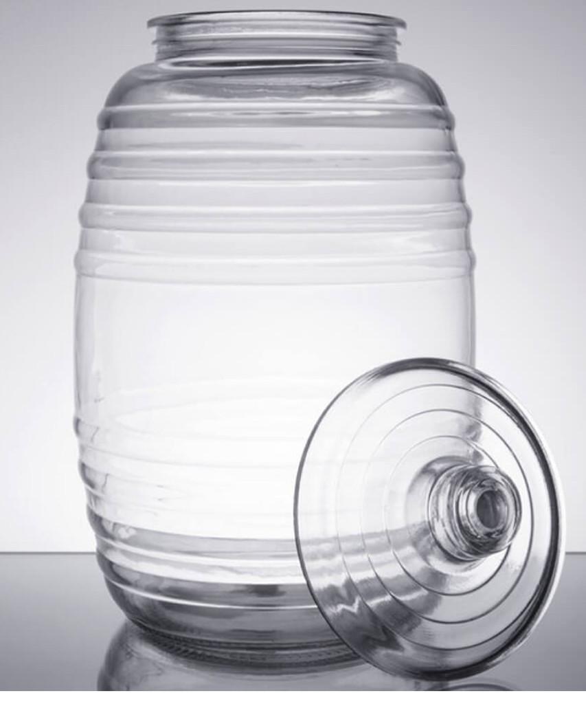 Large Glass Brewing Jar 10 liter 2 12 Gal Happy Herbalist