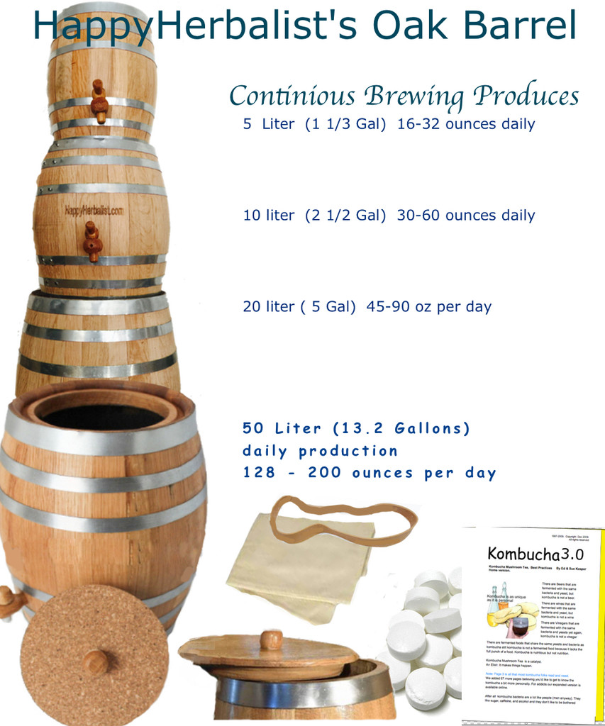 Brettanomyces thrives in Oak and so will your kombucha ferment. Kombucha brewing in oak is fantastic. Find our why.