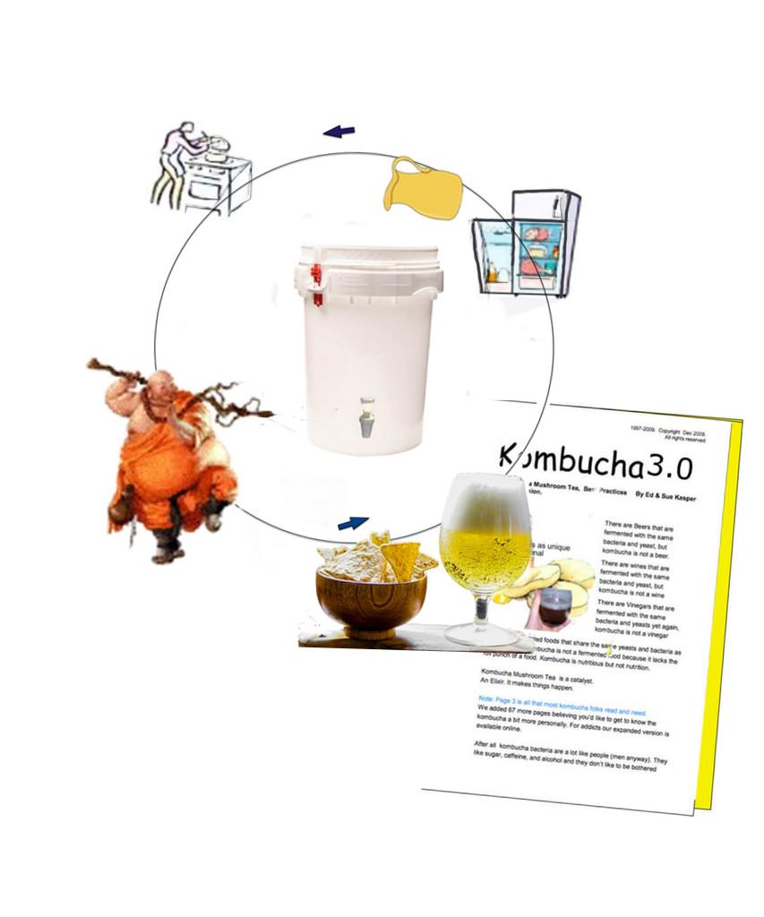 How to Make Kombucha Tea Continuous Brewing Method