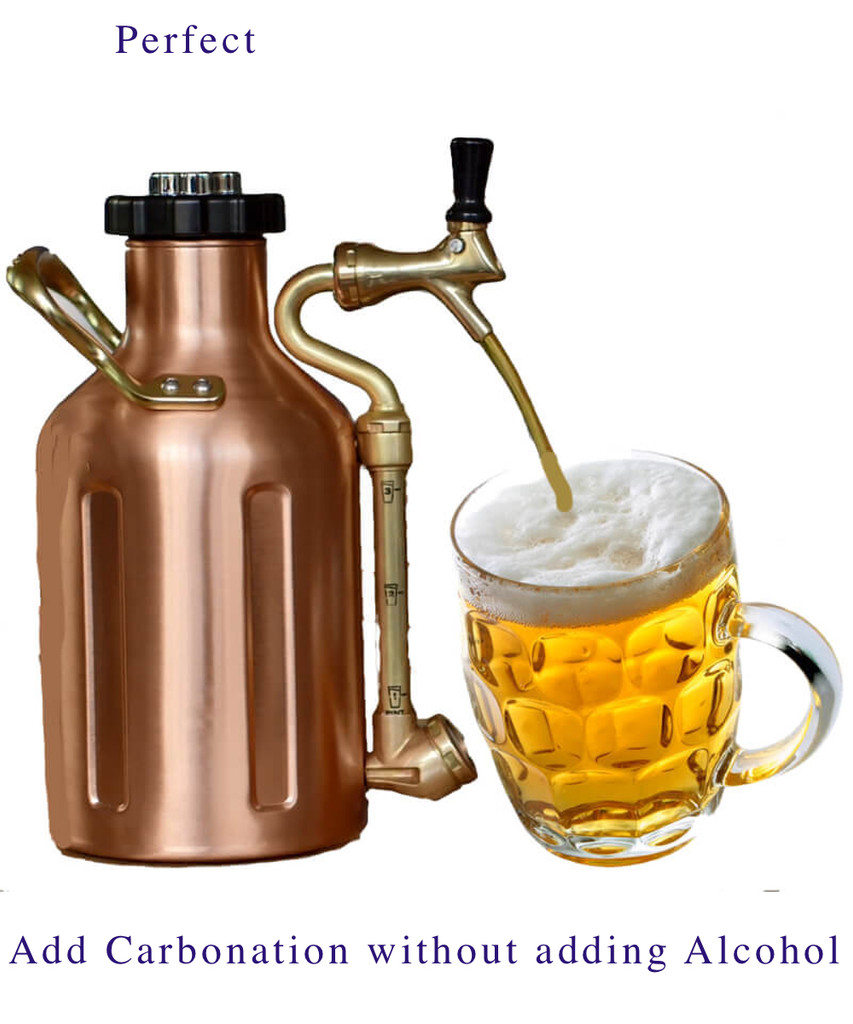 uKeg come in Stainless Steel or Copper Plated.