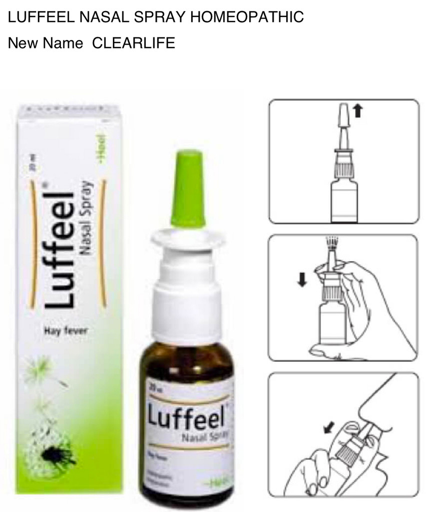Luffeel Nasal Spray Homeopathic Now Clearlife – Happy Herbalist