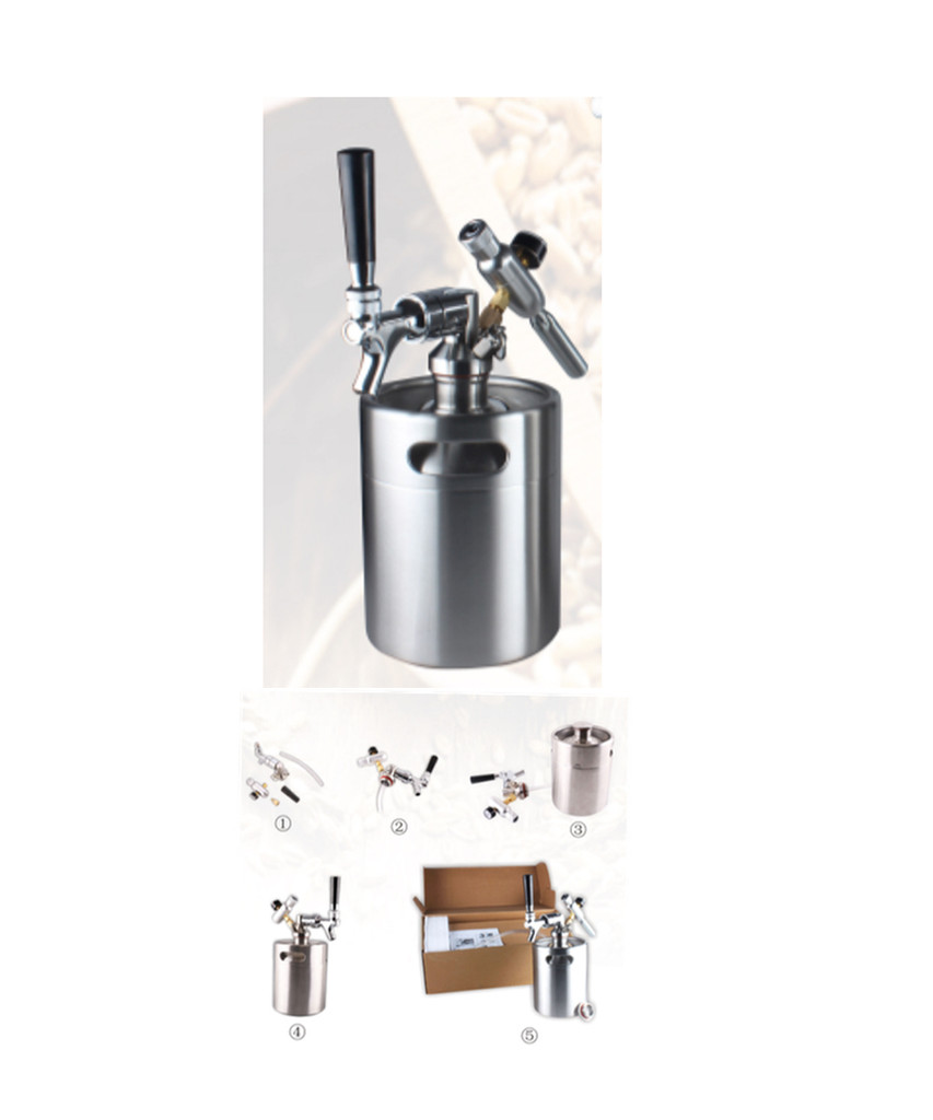 Pressurized Mini-Keg. Great for Traveling, Games, Parks, Tail Gating