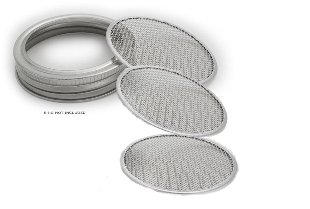 Food Grade Stainless Steel Mesh Filter for Kombucha, beer, wine, cider, ginger beer, Water Crystals any Probiotic, medicinal teas, herbs and spices. And Growing sprouts.