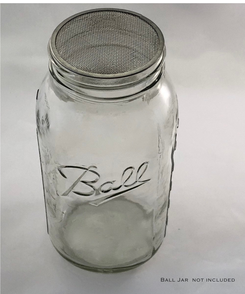 Large mouth stainless steel mesh filter fits Mason Jar and Ball Jars