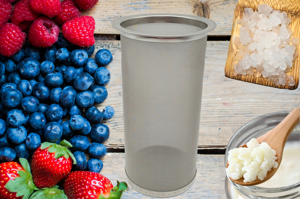Stainless Mesh Filter  3 inch x 6 inch great for fruit infusions or cold brew coffee, or water kefir, ginger beer, and more