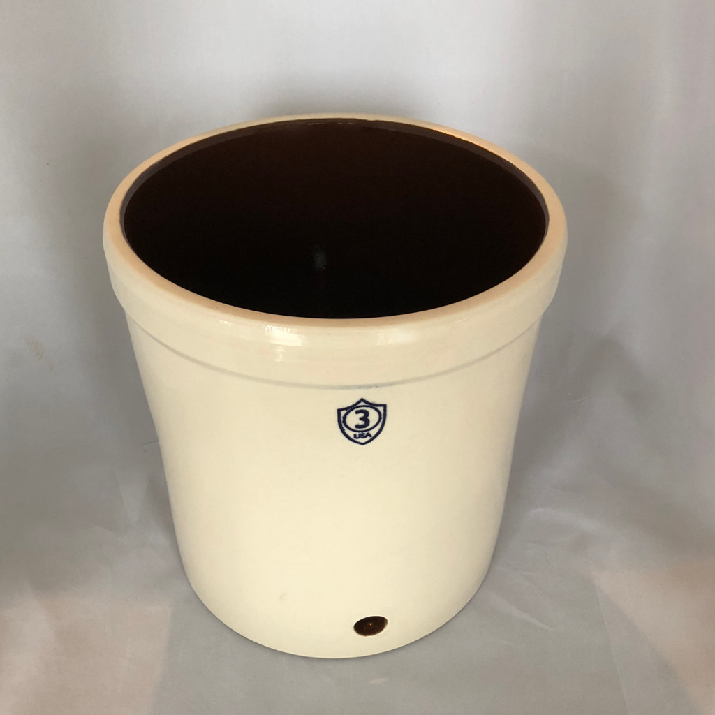3 Gallon Stoneware Dispenser, includes cloth cover and extra large elastic band.  Made in America. Lead free. Great for fermenting and brewing.