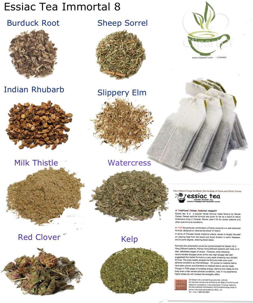 essiac 8 Immortal herbs. Original essiac p[lus 4 special herbs