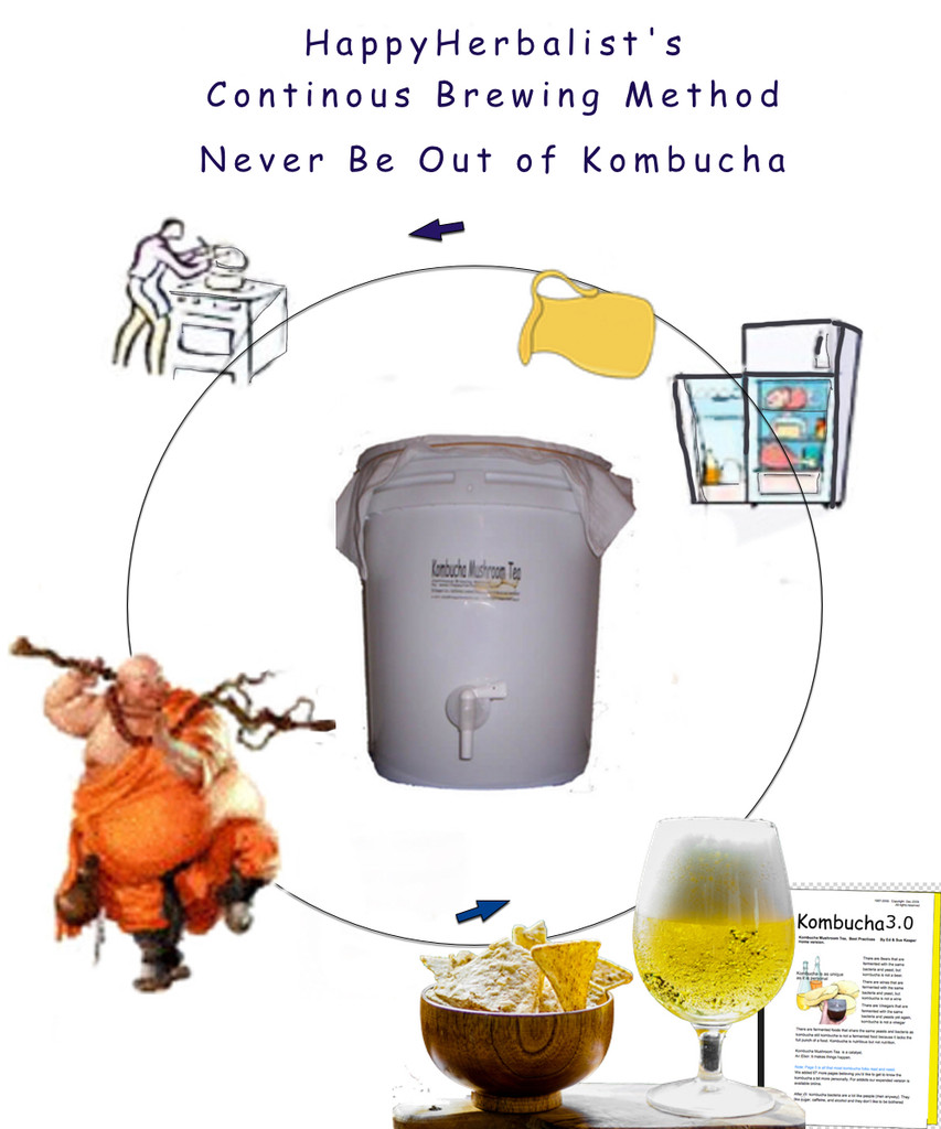 Produce 60 to 120 ounces per day of Great Kombucha Tea