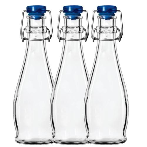 Set of 3 Flip Top Bottles Handy 12 oz size
