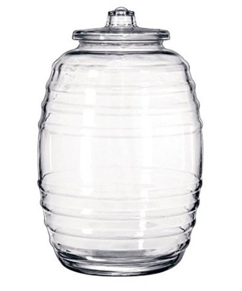 10 Liter (2 1/2 Gallon) Glass Pickle  Jar
