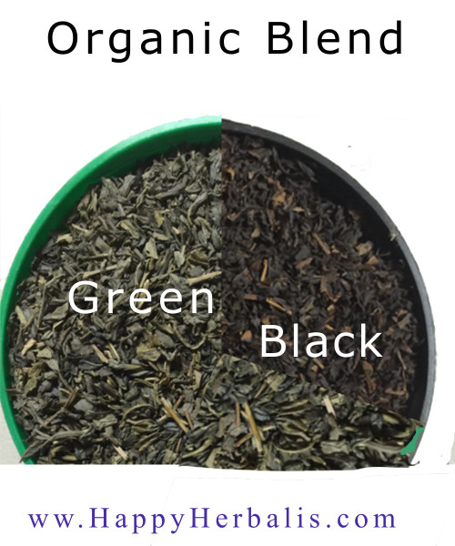 Blend   Black Tea (2) and Green (3)  Organic