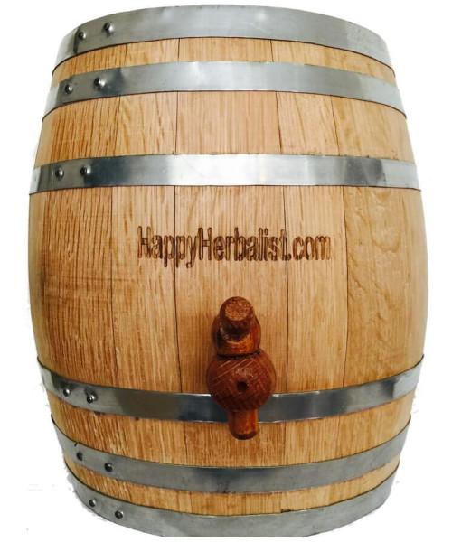 20 Liter = 2 1/2 Gallon American Oak Barrels.