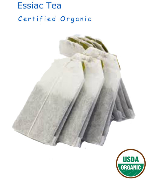 Certified Organic Essiac 4 individual Tea Individual included. makes  1 - 2 gallons of essiac tea that lasts from 4 to 8 months.