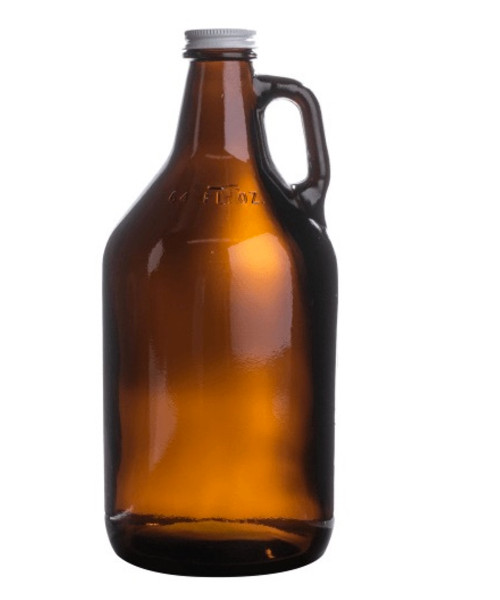 American Made 64 oz Glass Growler