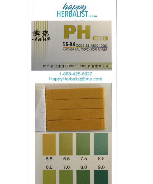 pH test 5-9 strips