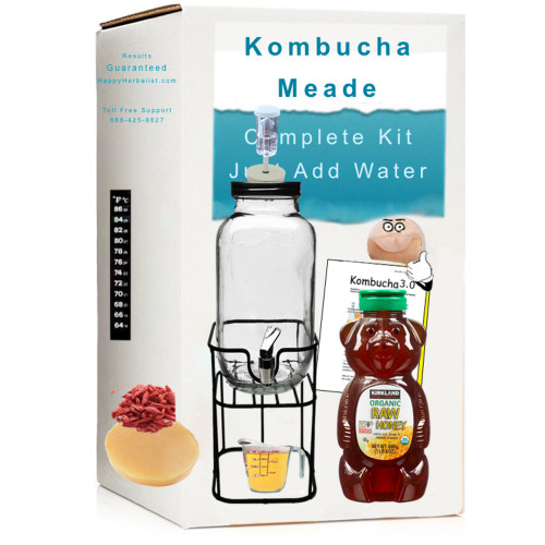 Kombucha Craft Brewing. Make Real Mead like a Suburban Viking. Complete Kit to make One Gallon Mead.  Just add honey and water to continuous brew forever,