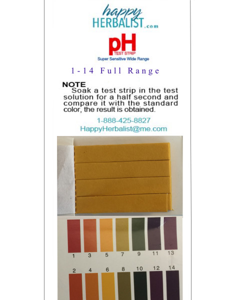Full range pH 1-14  100 stips with both ends usable for testing.