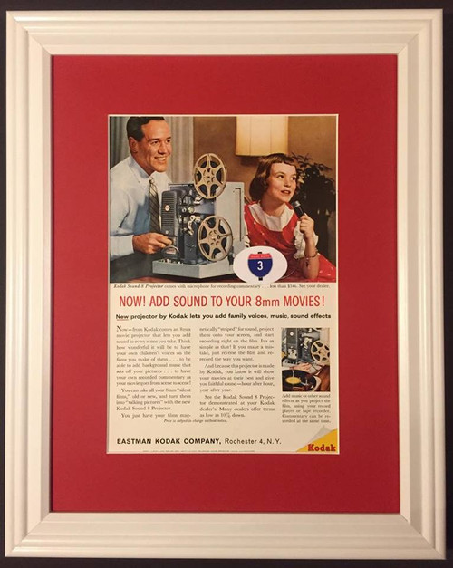 1960 60 Eastman Kodak Sound 8 Projector Vintage Ad  Camera, cameras, photo, photos, movie, projector, projectors, picture, pictures, photography, photographer, slide, slides, black, and, white, film, instant, 35, mm, 35mm, movies, flash, professional,