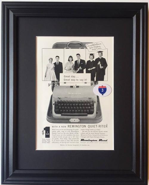 1957 57 Remington Rand Quiet Riter Typewriter Vintage Ad - Sperry Rand Corporation  remington, typewriter, typewriters, antique, vintage