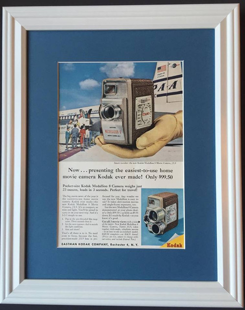 1957 57 Eastman Kodak Medallion 8 Camera Vintage Ad - Pocket Size Movie Camera  Camera, cameras, photo, photos, movie, projector, projectors, picture, pictures, photography, photographer, slide, slides, black, and, white, film, instant, 35, mm, 35mm, movies, flash, professional,