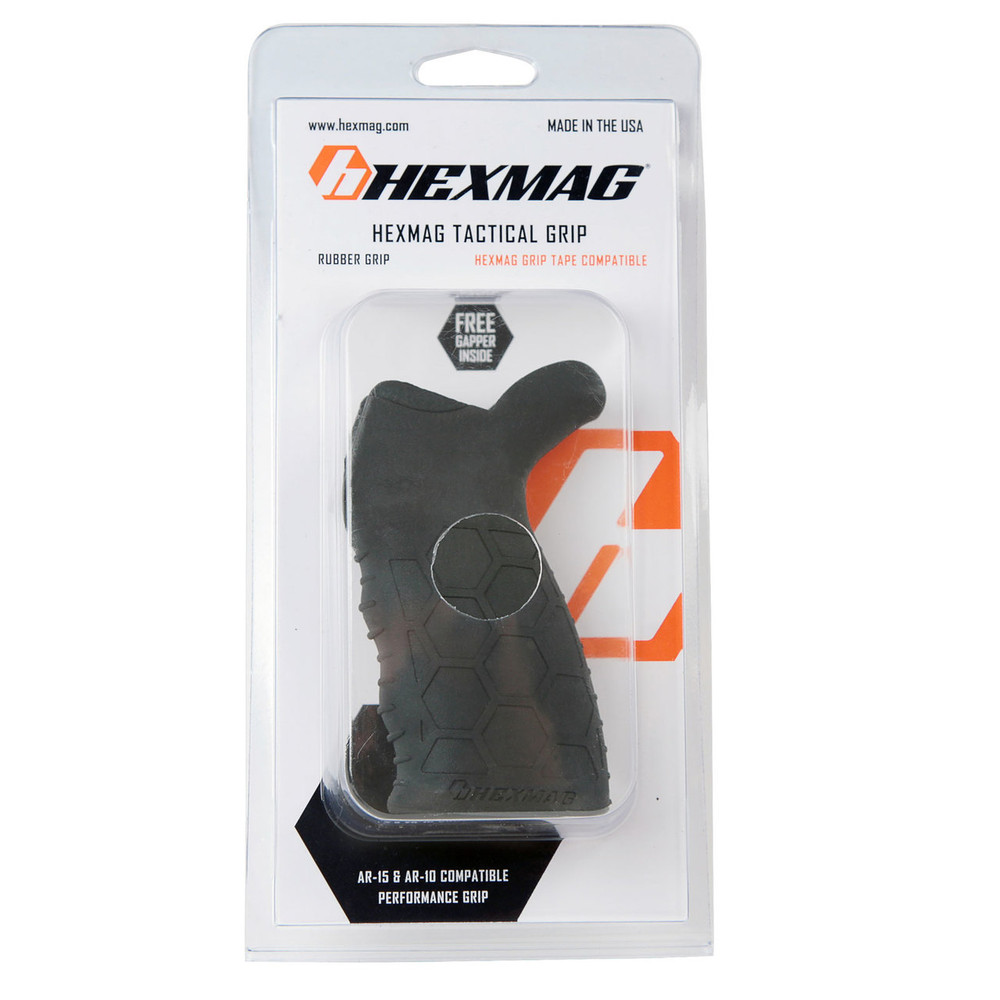 Black Hexmag Tactical Grip in retail packaging.
