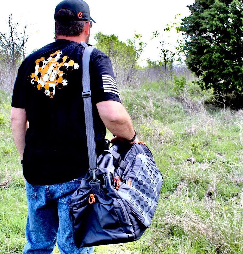 Silent Assassin Outdoors relies on SENTRY's Multi-gun range bag to haul his gear when scouting locations.
