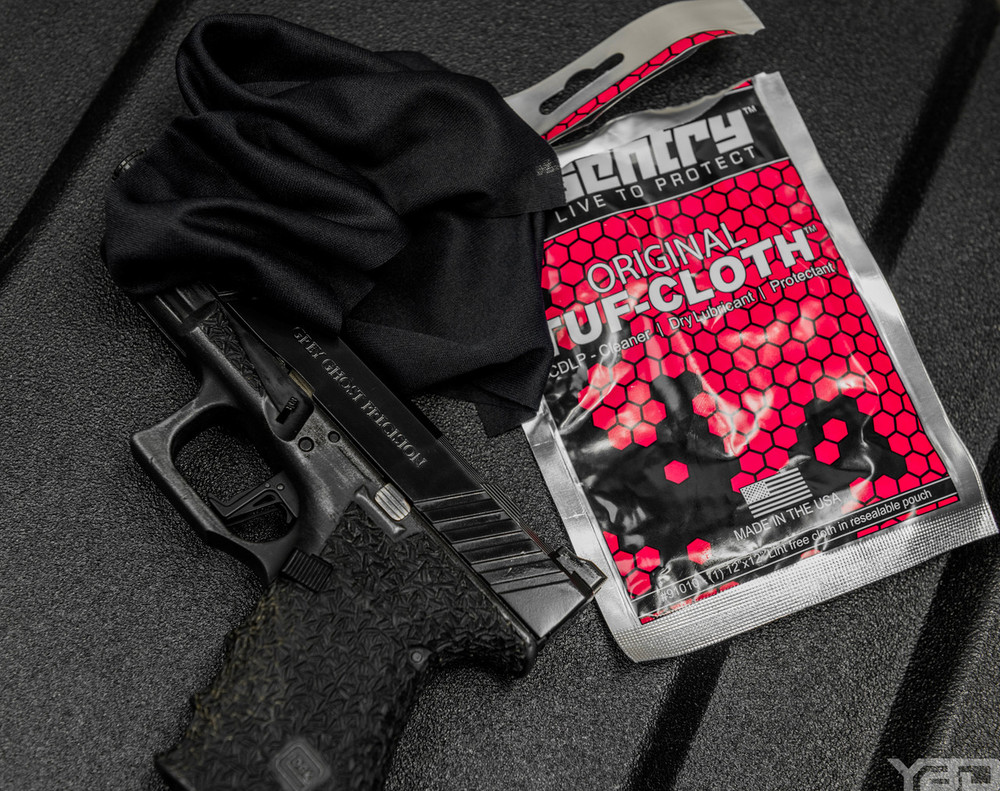 The Armorer's kit comes with one Sentry Solutions Tuf-Cloth pouch. One pouch comes with a pre-saturated cloth that you can use on all of your firearm components to clean and maintenance them. Also works great on knives to keep them from rusting after you sharpen them.