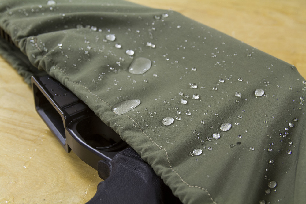 Made from water-resistant material to protect your optics and firearm