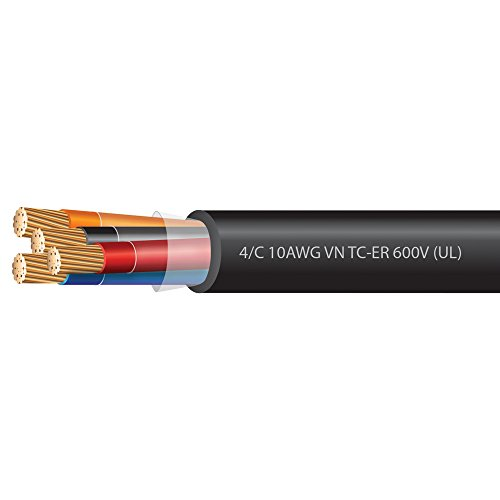 10 AWG 4 Conductor VNTC Tray Cable 600 Volts (UL)