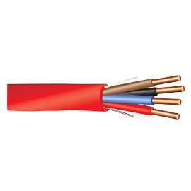 18 AWG 4/C Solid FPLP Plenum Rated Non-Shielded Fire Alarm Cable Red - 1000 Feet