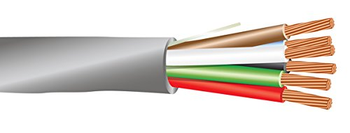 18 AWG 6/C Str CMR Riser Rated Non-Shielded Sound & Security Cable - 1000 Feet