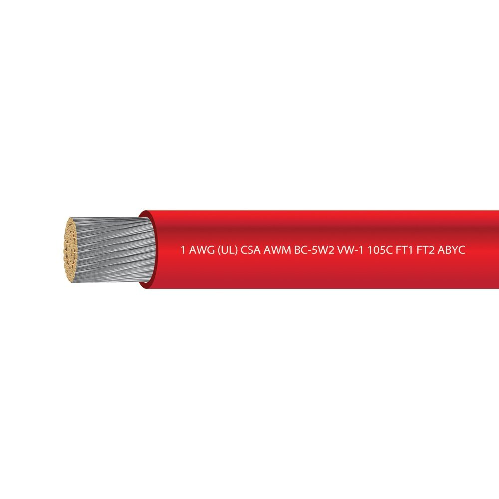 1 AWG UL Approved Marine Grade Tinned Copper Boat Battery Cable Rated 600 Volts