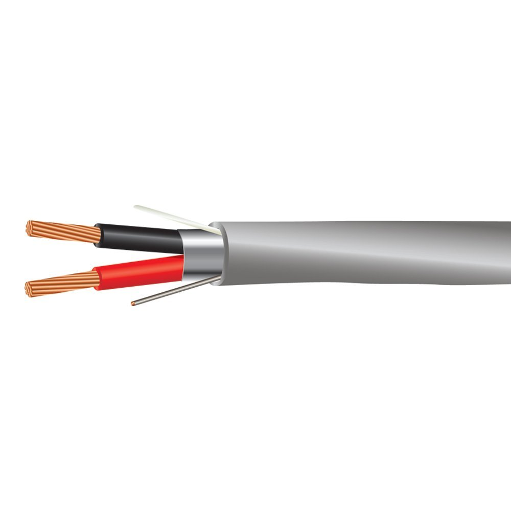 22 AWG 2/C Str CMR Riser Rated Shielded Sound & Security Cable - 1000 Feet